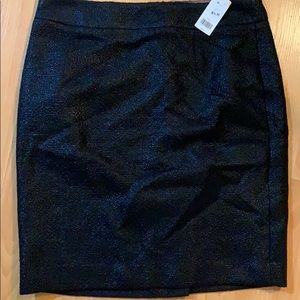 Black textured skirt size 12 new with tags